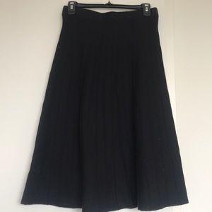 Zara Black a line skirt